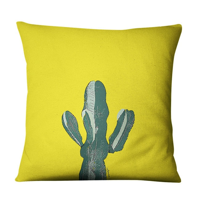 Cacti Boho Throw Pillow Cover