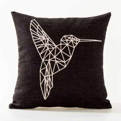 Birdie Boho Throw Pillow Cover