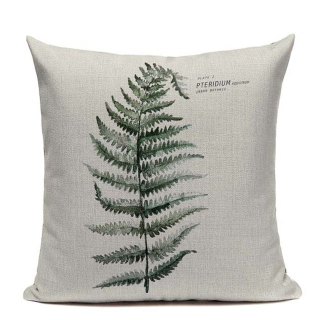 Pteridium Boho Throw Pillow Cover