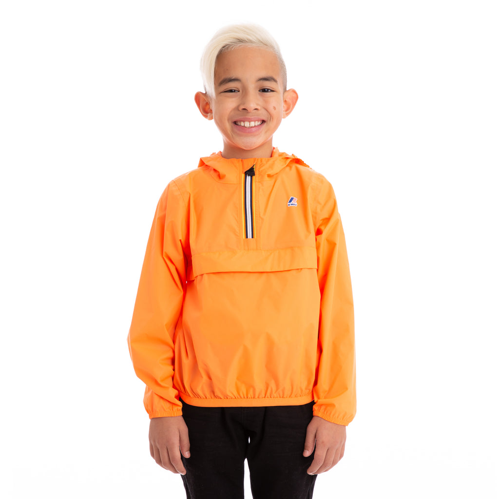 K-Way Kids Le Vrai 3.0  Leon Jacket Orange Extrafluo