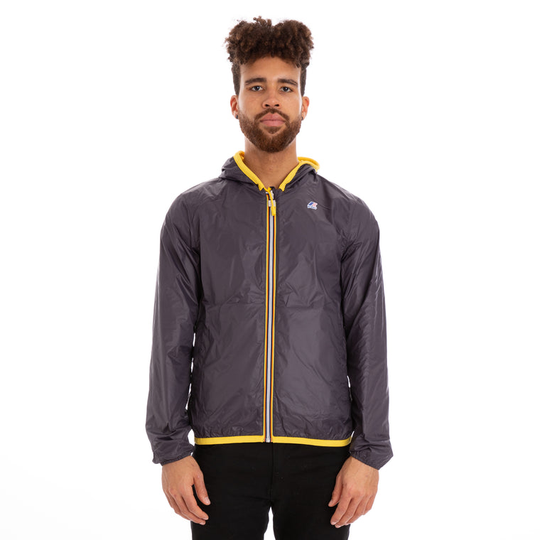 K-Way Men's Jacques Reversible Plus Double Jacket Yellow Grey