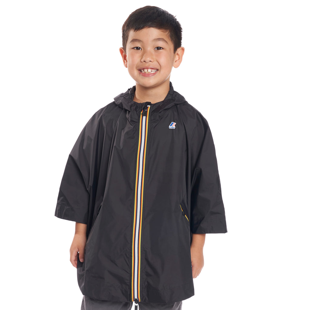 Kids Le Vrai 3.0 Morgan Poncho Black - Front