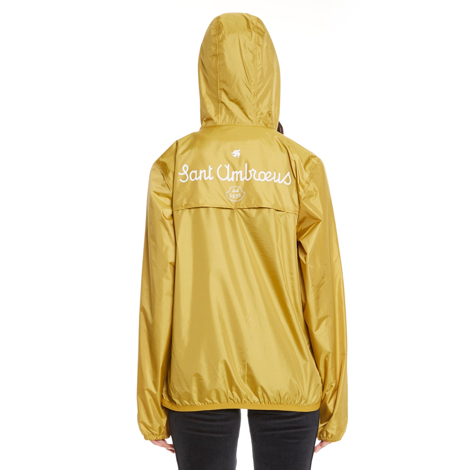 Women's Le Vrai 3.0 Leon Half Zip X Sant Ambroeus Jacket Yellow Gold Metal