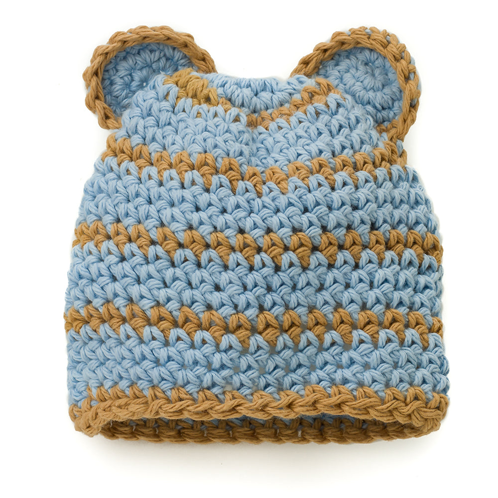 Bear Hat: Blue & Tan - Chizipoms
