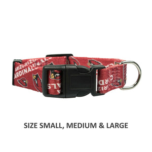 Arizona Cardinals Pet Nylon Collar - Small