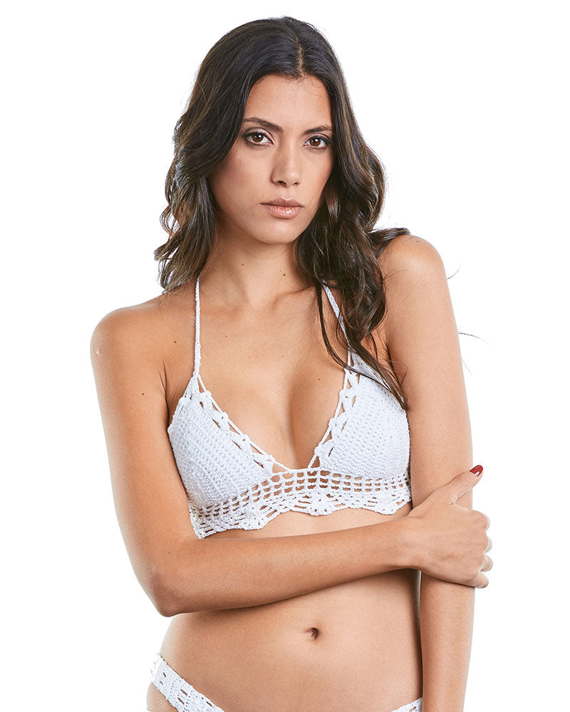 KNITTED FEVER TRIANGLE TOP PRAIA BRAVA 1039600T