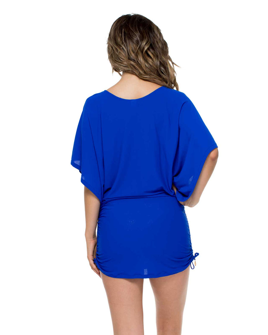 ELECTRIC BLUE COSITA BUENA SOUTH BEACH DRESS LULI FAMA L177968-340