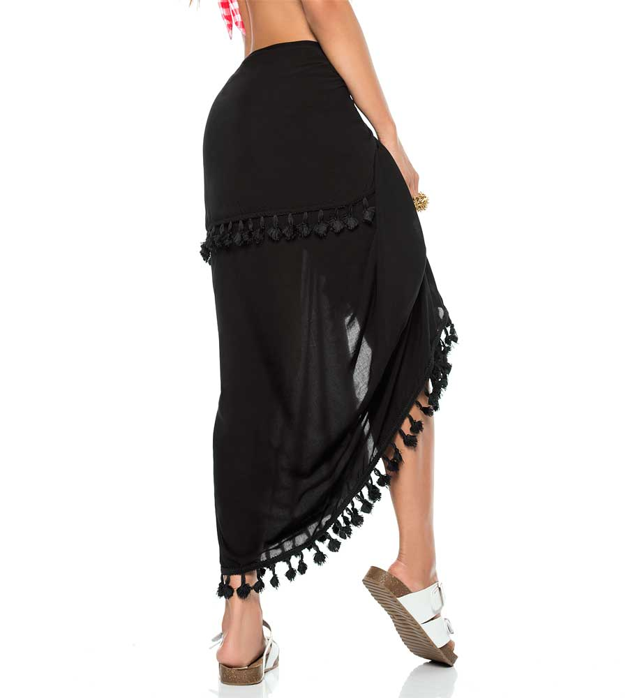 BLACK COLOR MIX SARONG PHAX PF16750002-001