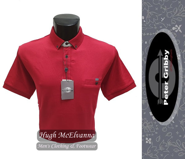Jersey Polo Shirt by Peter Gribby Style: PJ19126 ( 3 Colour Options Available ) - Hugh McElvanna Menswear