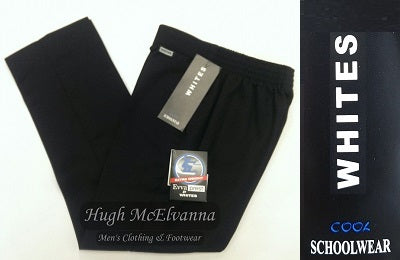 Boys Navy Pull Up Trousers by AF White - Hugh McElvanna Menswear
