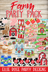 Farm Barnyard Birthday Party Printable Decor Kit