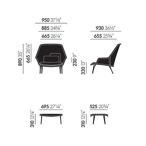 Vitra<br><b> Slow Chair & Ottoman</br></b>