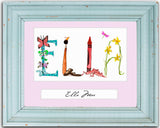Custom 8x10 Name Art (matted only, not framed) - Artist chooses letters