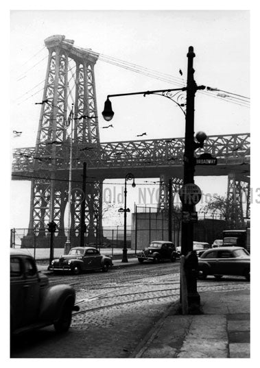 Down under the Williamsburg Bridge 1940's Old Vintage Photos and Images