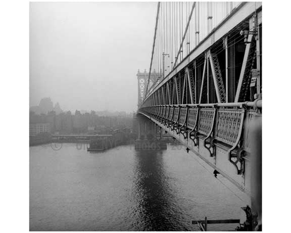 Manhattan Bridge  1960 Brooklyn, NY Old Vintage Photos and Images