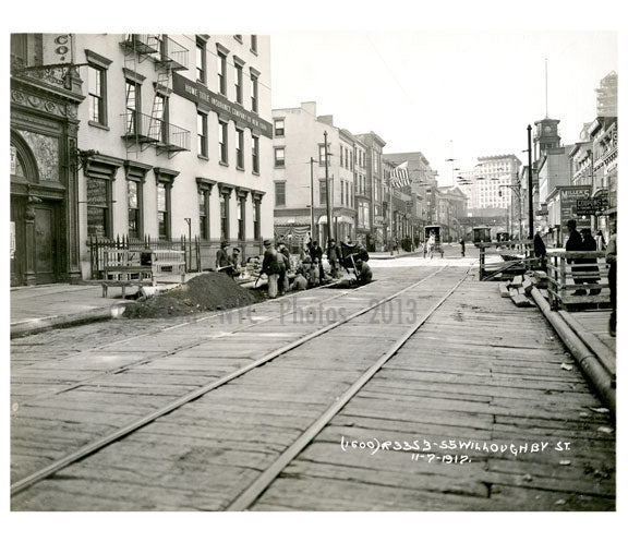 Willoughby Street 1914 - Fort Greene - Brooklyn NY Old Vintage Photos and Images