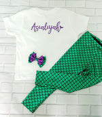 Personalized Name Outfit - Bodysuit or T-shirt, Legging, & Bow - Aribella Collection
