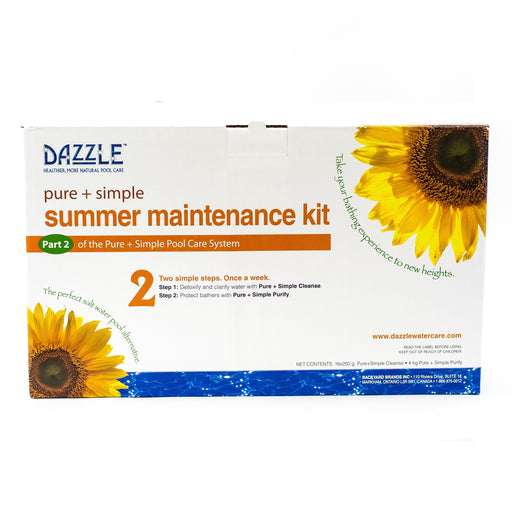 Dazzle Pure + Simple Summer Maintenance Kit (Large) - Aqua-Tech