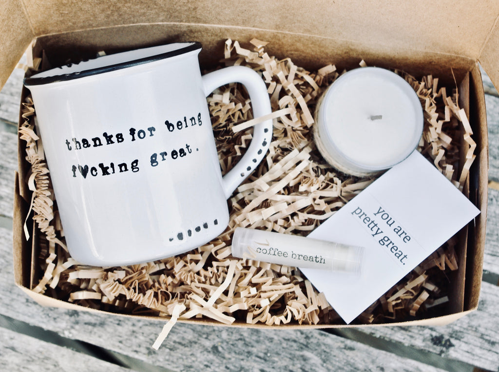thank you mug, unique thank you gift to send in the mail