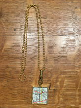 Albion Map Pendant Necklace Square - Chella's Collection