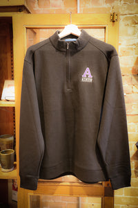 Knit Pullover Jacket - 1/4 Zip Embroidered Albion College 'A'