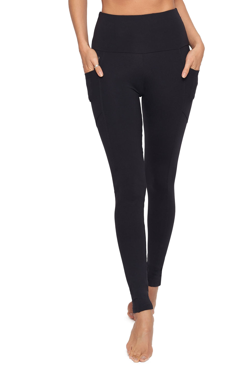 High-Waisted Supplex Full Length Legging with Pockets