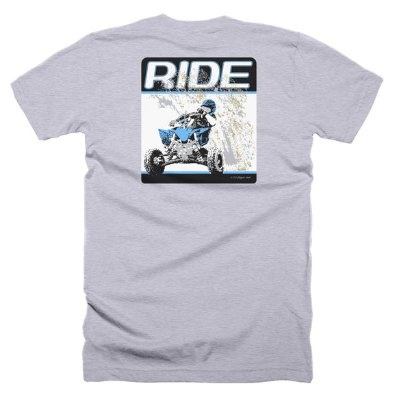 """RIDE"" Back Print - American Apparel T Shirt"