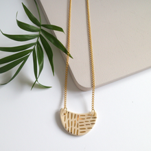 Peach and Gold Ceramic Necklace