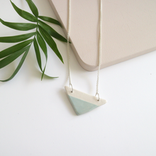 Green Triangle Ceramic Necklace