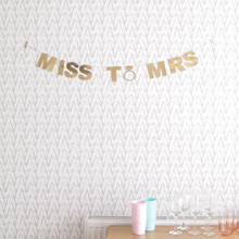 Miss to Mrs gold banner