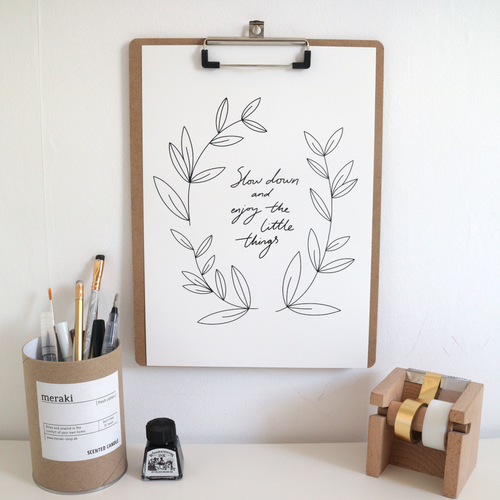 Slow Down Hygge Print
