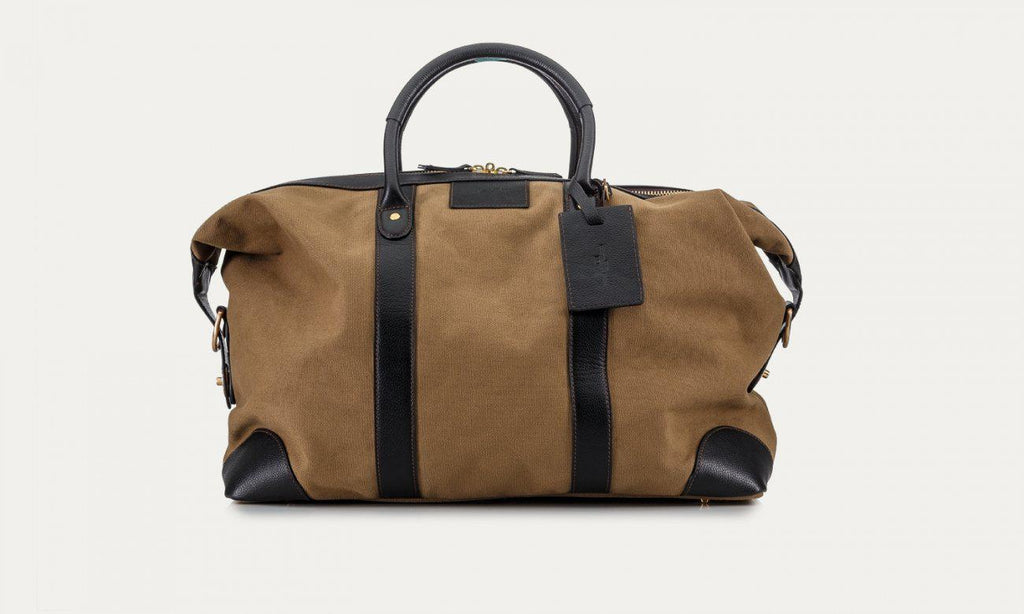 Baron Canvas Weekend Bag-Bags-Classic fashion CF13-Khaki-Classic fashion CF13