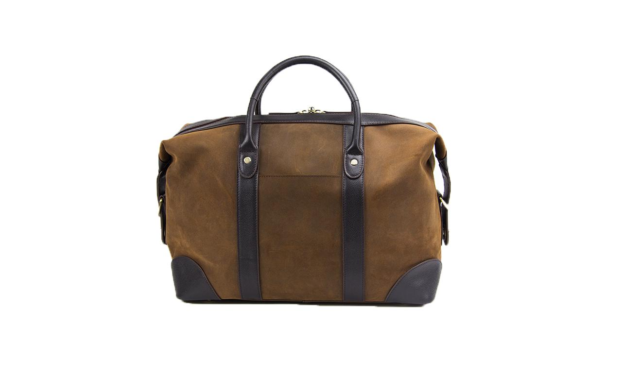 Baron Small Suede Weekend Bag-Bags-Classic fashion CF13-Brown-Classic fashion CF13