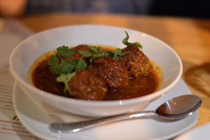 Wild Boar Meatballs with Cilantro Sauce
