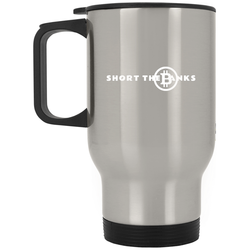 Short The Banks Silver Stainless Travel Mug