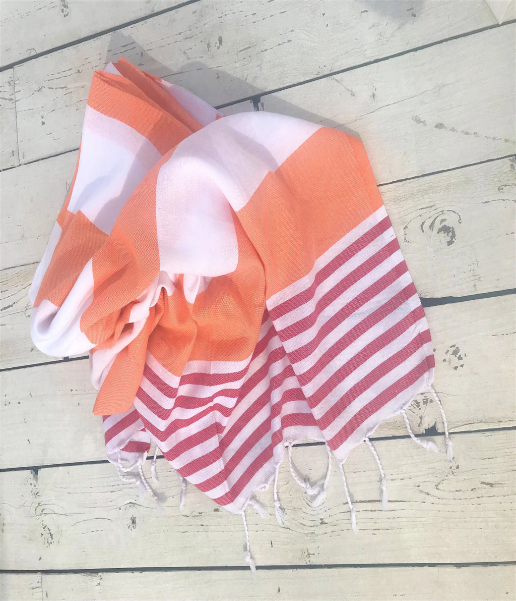 Ceyda Peshtemal Hammam Towel - Orange