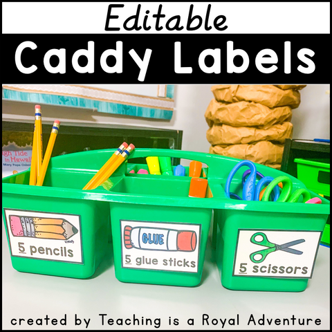 Editable Caddy Labels