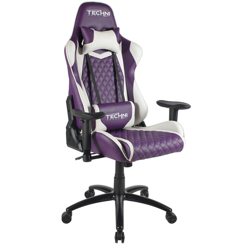Techni Sport TS-52 High Back Racer Style Video Gaming Chair, Purple - eSportsfurnitureworld