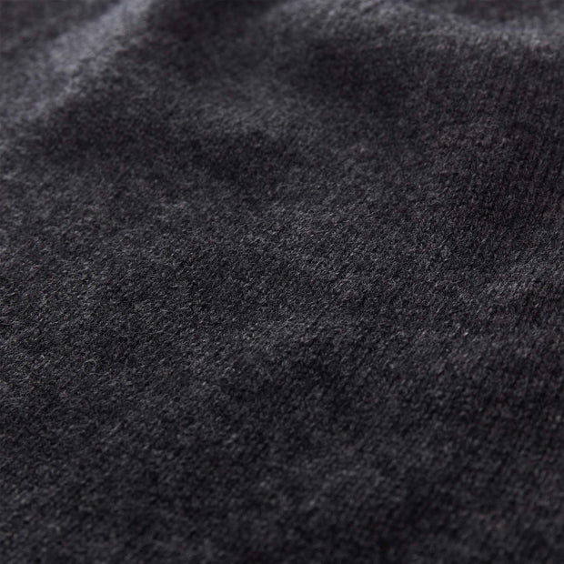 Nora Cashmere Jumper charcoal, 50% cashmere wool & 50% wool | High quality homewares