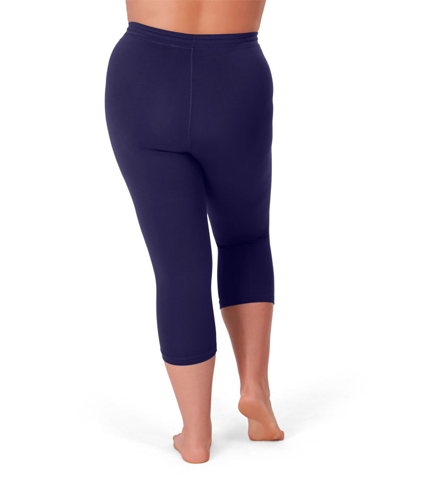 QuikWik® Long Capris In Navy Blue