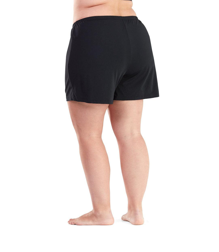 plus size swimwear short black