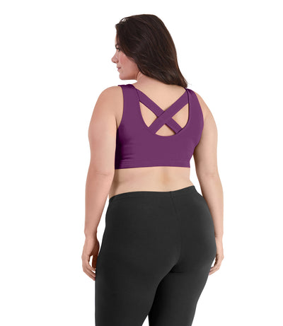 plus size sports bras pull on