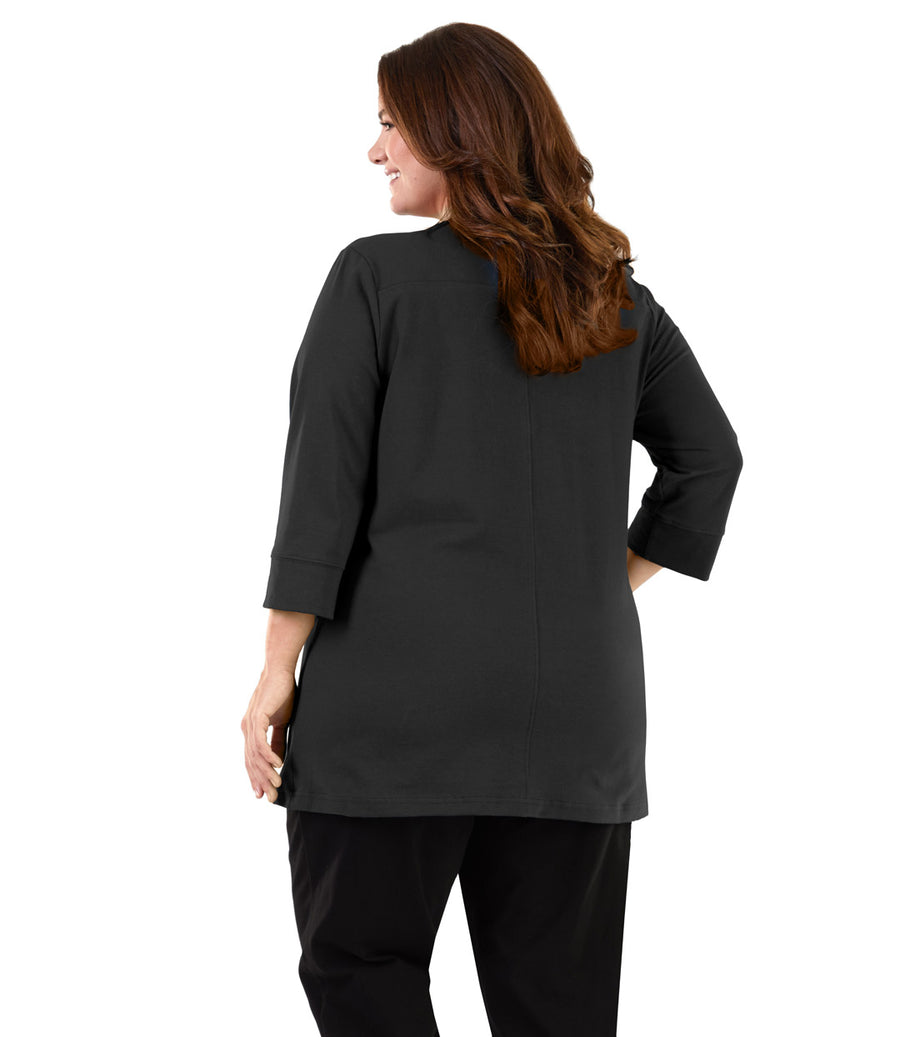 Junonia Classics Pieced 3/4 Sleeve Top