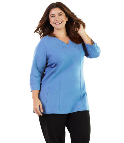 women's plus size activewear top tunic