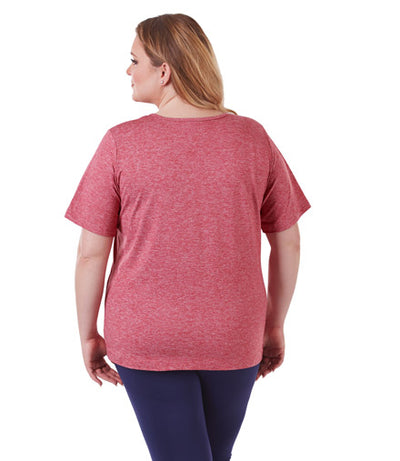 SoftWik Basic V-Neck Tee Red - JunoActive