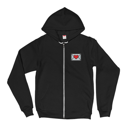 Tiny Love Email Emoji (Zip Up Hoodie)