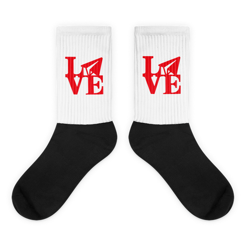 Email Love (White/Black Socks)