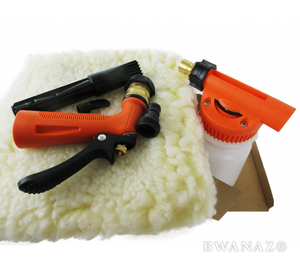 Garden Hose Foam Gun with 6 Settings Orange | CarWashCloth