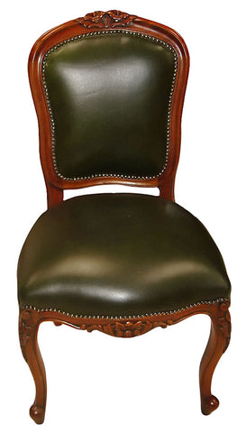 Rose Carved Upholstered Back Dining Chair