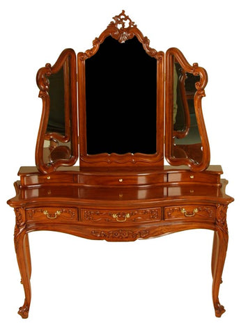 Louis Style Cabriole Leg Dressing Table